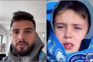 Insigne, videomessaggio per il bambino in lacrime al San Paolo durante Napoli-Fiorentina