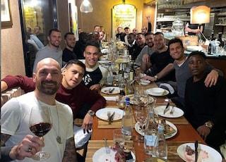 Inter, cena di gruppo: c'è Victor Moses, assenti Vecino e Politano