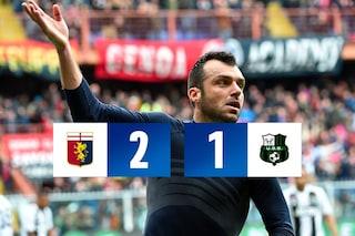 Serie A, Genoa-Sassuolo 2-1: ci pensa Pandev, primi tre punti per Nicola