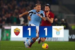 Roma-Lazio 1-1, emozioni ed errori: il Derby della Capitale regala un punto a testa