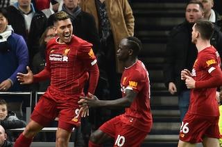 Premier: il Liverpool vince anche in casa del Tottenham, gol di Firmino