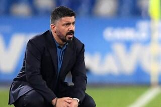 Napoli, con Gattuso non è arrivata la scossa: 4 sconfitte in 5 partite di Serie A