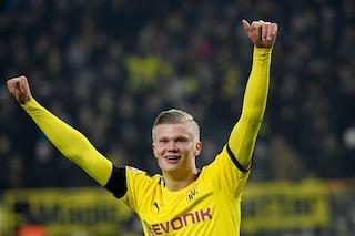 Haaland show, doppietta al Colonia: 5 gol in 2 partite con il Borussia Dortmund