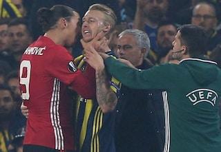 Ibrahimovic ritrova Kjaer al Milan, nel 2016 lo prese per il collo