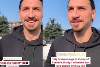 """Le prime parole di Ibrahimovic al Milan: """"Sono qua per far saltare ancora San Siro"""""""