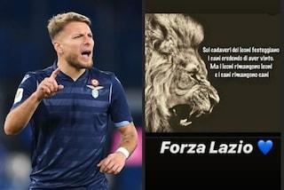 """Con chi ce l'ha Ciro Immobile? Su Instagram: """"I leoni restano leoni, i cani restano cani"""""""