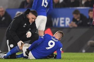 Premier League, serio infortunio per il bomber del Leicester Jamie Vardy