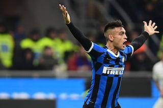 Inter-Atalanta 1-1, gol di Lautaro e Gosens. Handanovic para un rigore