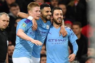 Manchester United-Manchester City 1-3, Guardiola ipoteca la finale di EFL Cup