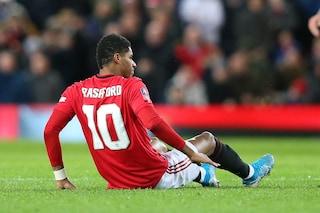 Rashford fuori almeno due mesi: frattura da stress per l'attaccante del Manchester United