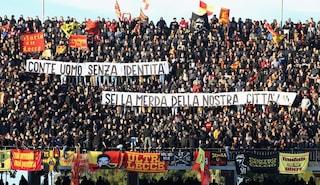 Striscioni e insulti contro Conte, perché i tifosi del Lecce lo odiano