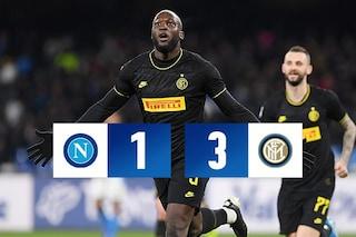 L'Inter vince 3-1 con il Napoli e riprende la Juventus: Lukaku e Lautaro decisivi