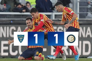 Lecce-Inter 1-1: Conte frena a casa sua, Mancosu risponde a Bastoni