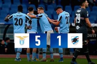 Lazio-Sampdoria 5-1: Caicedo gol ma è Immobile show, pagelle top per il bomber