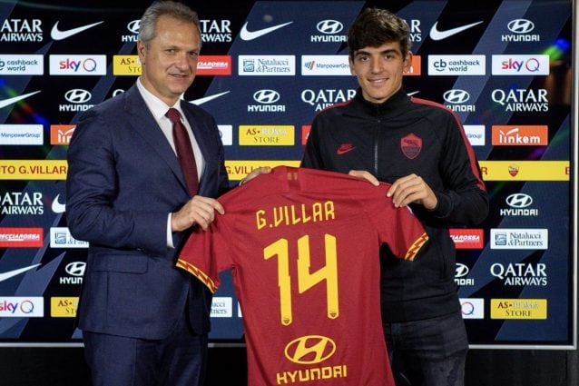 Roma, ufficiale l'acquisto di Villar: il comunicato