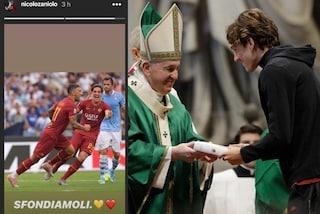 "Zaniolo da Papa Francesco al derby: ""Sfondiamoli"""