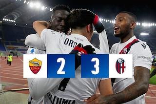 Roma-Bologna 2-3, Orsolini e Barrow fanno volare Mihajlovic