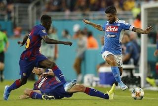 Il Napoli è terzo per tiri in Europa, Barcellona peggio di Spal e Lecce