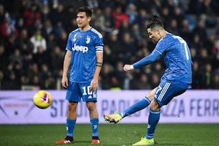 Cristiano Ronaldo e la maledizione delle punizioni alla Juventus: 0 gol su 36 tentativi