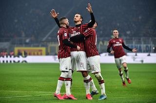 L'esultanza di Ibrahimovic contro l'Inter: un bacio alla Curva Nord nerazzurra