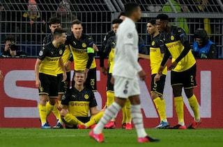 Champions League, Borussia Dortmund-PSG 2-1 e Atletico Madrid-Liverpool 1-0