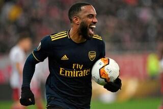 Sedicesimi Europa League, risultati: Arsenal corsaro al Pireo, che rimonta per i Rangers