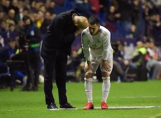 """Zidane sull'infortunio di Hazard: """"Non so se lo rivedremo in campo in questa stagione"""""""