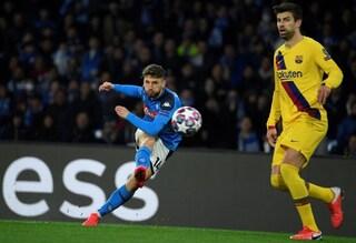 Napoli-Barcellona Champions League 1-1: Griezmann risponde a Mertens