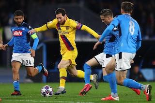 Napoli-Barcellona, la partita di Messi al San Paolo: 23 palloni persi, un solo tiro in porta