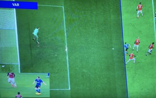 Moviola Inter-Milan: Sanchez in posizione dubbia sul 2-2, per il VAR non è fuorigioco