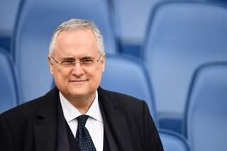 """Lotito: """"Contro l'Inter voglio una Lazio feroce. Juve in crisi? Non ci credo"""""""