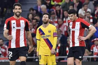 Copa del Rey, Barcellona eliminato dal Bilbao: fatale il gol di Williams al 94'