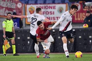 Roma-Bologna 2-3: Barrow-show, giallorossi fischiati all'Olimpico