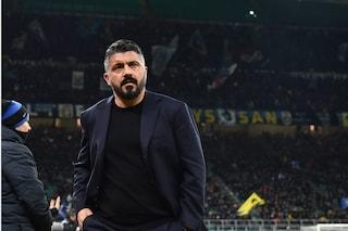 """Gattuso: """"Sorridere dopo Inter-Napoli? No, dobbiamo pedalare ancora"""""""