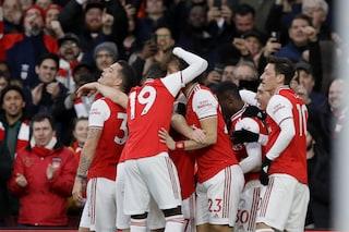 Premier, l'Arsenal batte l'Everton: un grande Aubameyang ferma la corsa di Ancelotti