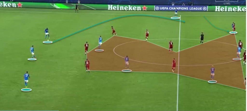 Contro il Napoli, la disposizione dei Reds in fase di non possesso è stata troppo stretta ma lineare, l'atteggiamento passivo non ha aiutato