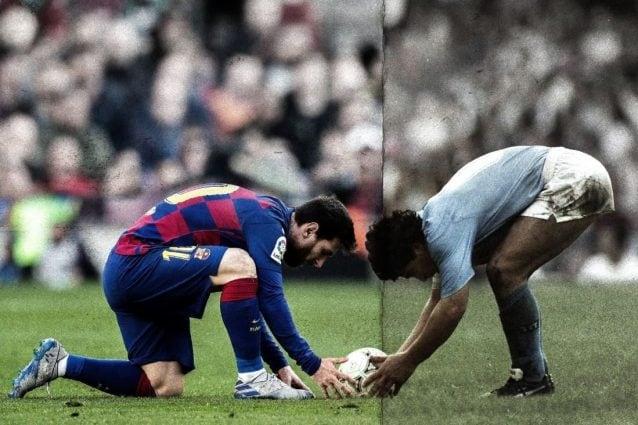 """Messi vs Maradona, la """"combo"""" pubblicata dal Barcellona sugli account social"""