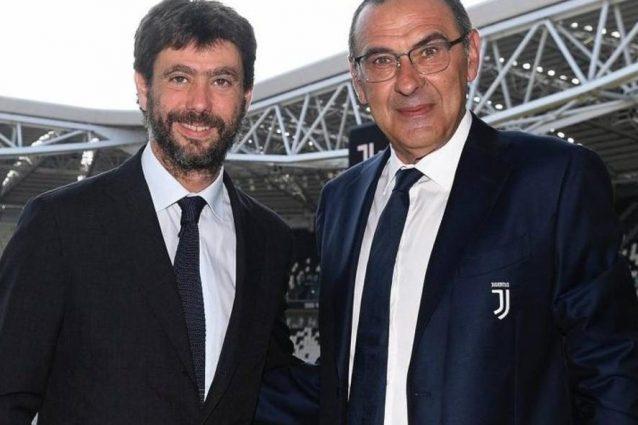 Sarri a cena con Agnelli: sul tavolo i problemi della Juventus