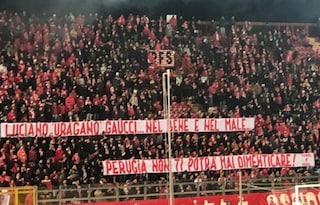 """Perugia, lo striscione dei tifosi per Gaucci: """"Nel bene e nel male non ti dimenticheremo"""""""