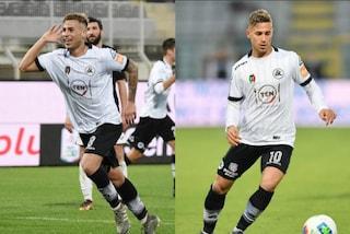Matteo e Federico Ricci entrambi in gol in Perugia-Spezia, giornata da record per i gemelli