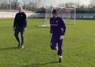 Fiorentina, Ribery torna ad allenarsi: recupero più vicino