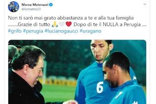 """Morte Gaucci, Marco Materazzi ricorda il presidente: """"Grazie di tutto"""""""