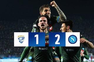 Serie A, Brescia-Napoli 1-2: Insigne e Fabian Ruiz portano il Napoli al sesto posto