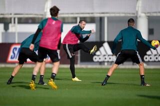 Juventus, Giorgio Chiellini si allena in gruppo. Ecco quando potrà tornare in campo
