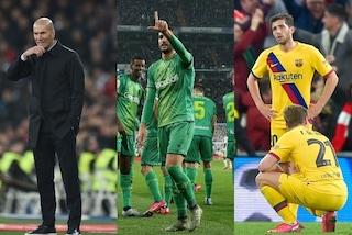 Coppa del Re, con la nuova formula: Real e Barcellona fuori e semifinali a sorpresa