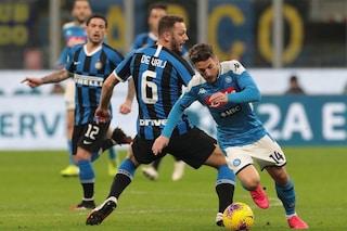 Coronavirus, caos calendari: Coppa Italia, la semifinale Napoli-Inter slitta al 13 maggio?