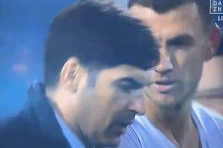 """Roma, Fonseca rivela cosa gli ha detto Dzeko a fine gara: """"Non parlare con l'arbitro"""""""