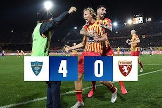 Lecce-Torino 4-0, prodezza di Falco. Il poker giallorosso può costare l'esonero a Mazzarri