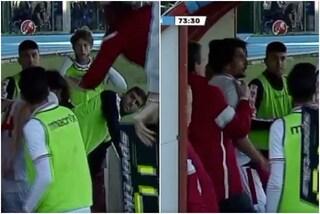 Serie D, l'allenatore Magrini dà uno schiaffo ad un suo calciatore: espulso