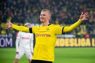 Borussia Dortmund-Eintracht, Haaland ancora in gol: è l'ottava rete in cinque partite